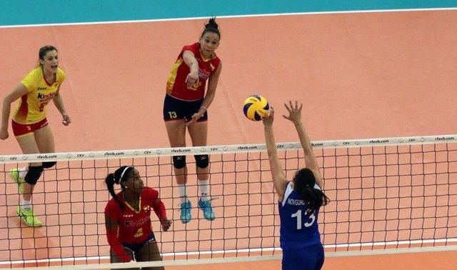 España se enfrenta a Ucrania en la fase previa a la final de la Liga Europea