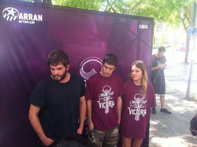 Los tres militantes de Arran detenidos salen en libertad