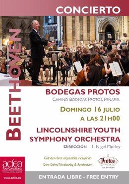 Valladolid: cartel del concierto en Protor