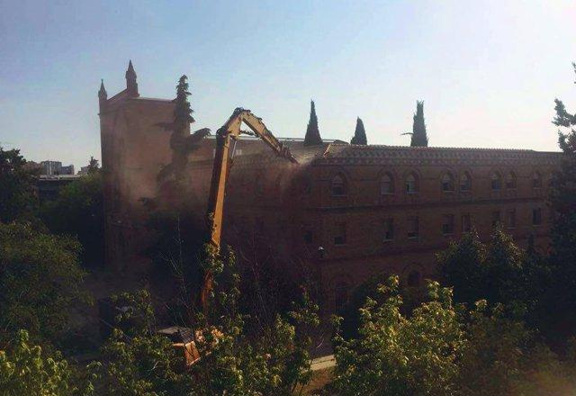 Derribo del convento de las Damas Apostólicas
