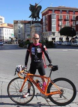El ciclista Jorge de Vicente