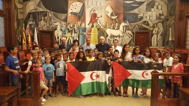 Ndp. La Diputación De Zaragoza Recibe A Los Niños Saharauis Que Pasan El Verano