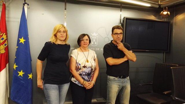 Picazo, Delicado y Belincón en rueda de prensa