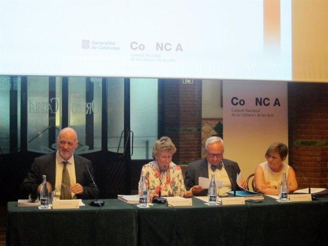 J.Oller, M.Carulla (Palau de la Música), C.Duarte y M.Gisbert (Conca)