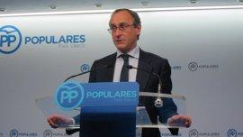 """Alonso (PP) asegura que la política penitenciaria """"no se va a cambiar"""" y que ETA no conseguirá """"nada a título póstumo"""""""