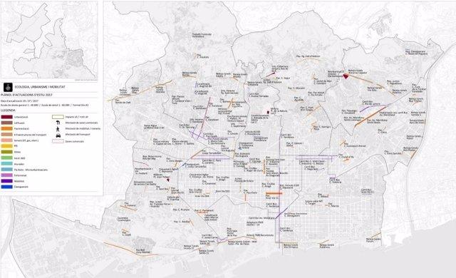 Obras y pavimentaciones previstas para este verano en Barcelona