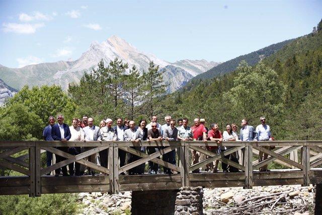 Lambán ha visitado este lunes el Parque Nacional de Ordesa