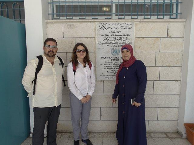 Mónica Oltra en Cisjordania