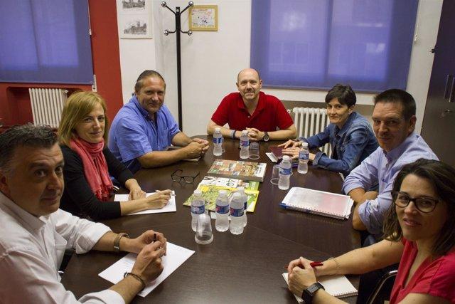 Reunión de CC.OO. Aragón y UAGA