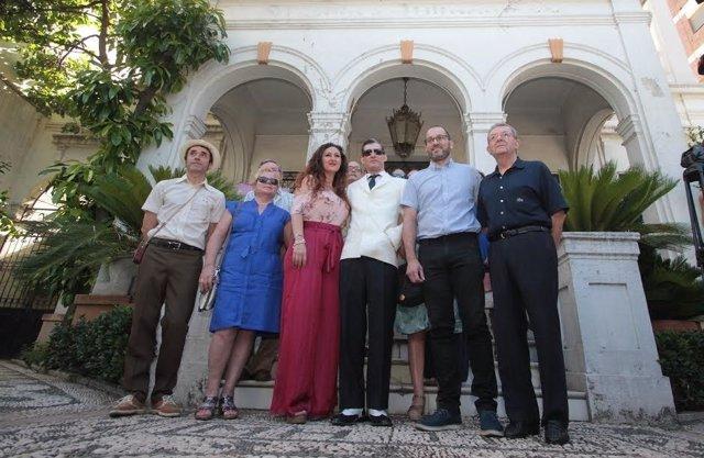 Autoridades durante el primer 'Paseo con Manolete'