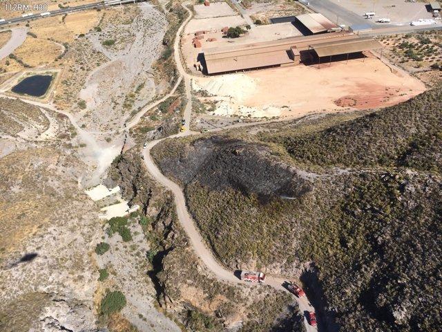 Imagen de la zona del incendio