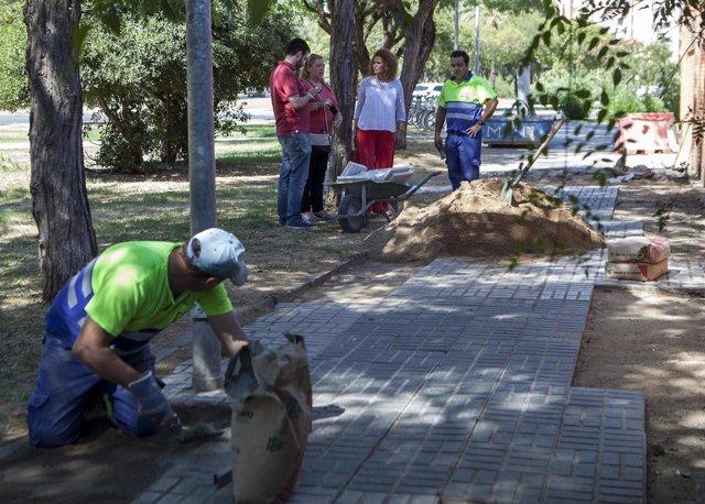 Obras en la avenida Alcalde Luis Uruñuela