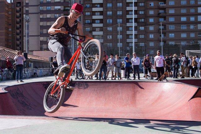 Inauguración del skate park de Vía Hispanidad