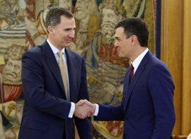 Felipe VI recibe a Pedro Sánchez en Zarzuela tras su vuelta a los mandos del PSOE