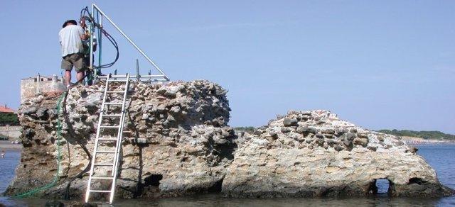 Restos de hormigón romano