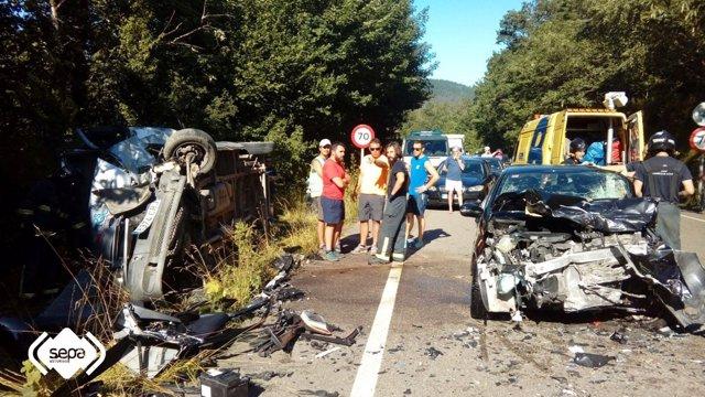 Accidente de tráfico en Cangas de Onís.