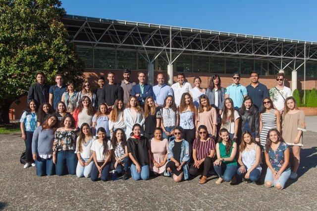Alumnos de México y Guatemala que han participado en el programa