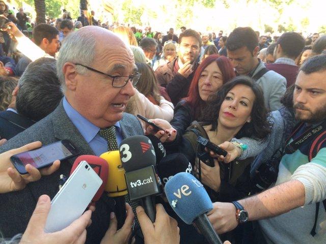 El presidente de SíQueEsPot en el Parlament, Lluís Rabell
