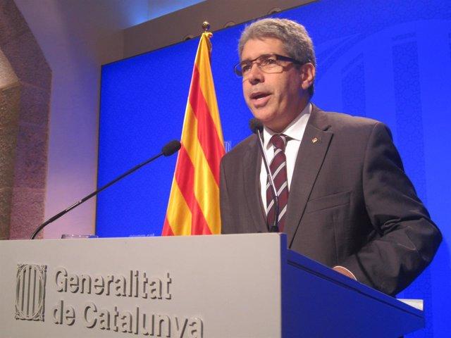 Rueda de prensa del portavoz del Govern, Francesc Homs, tras el Consell Executiu
