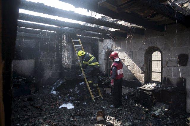 Incendio en la iglesia de la Multiplicación en Israel