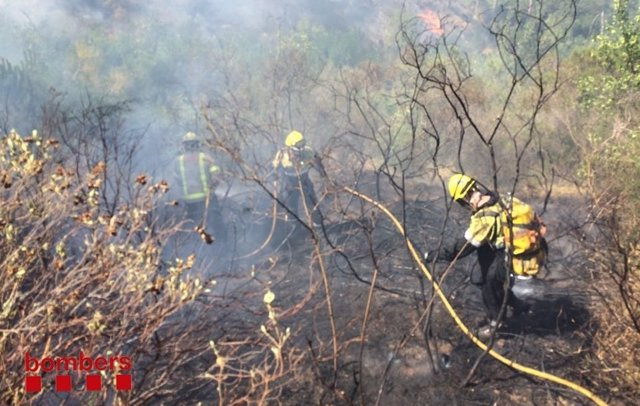 Incendio en Badalona