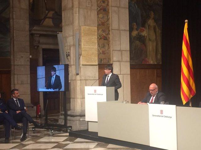 Carles Puigdemont y Jordi Baiget