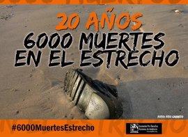 Pro Derechos Humanos Andalucía cifra en 6.000 las muertes confirmadas en el Estrecho, Cádiz, en 20 años