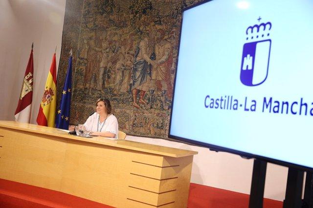 Franco en rueda de prensa en Fuensalida