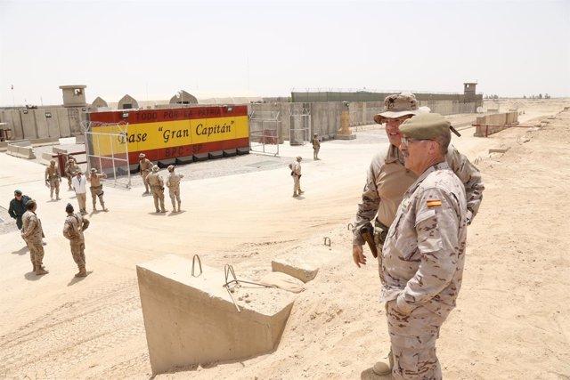 El JEMAD, general Fernando Alejandre, en Irak
