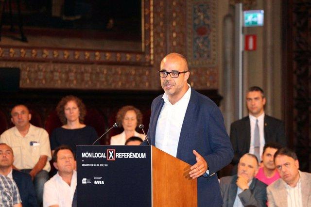 : El Presidente De La Associació Catalana De Municipis, Miquel Buch
