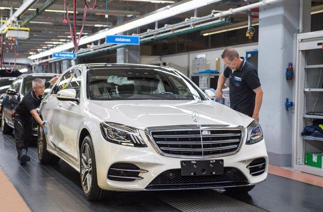 Producción del Mercedes-Benz Clase S en Sindelfingen (Alemania)