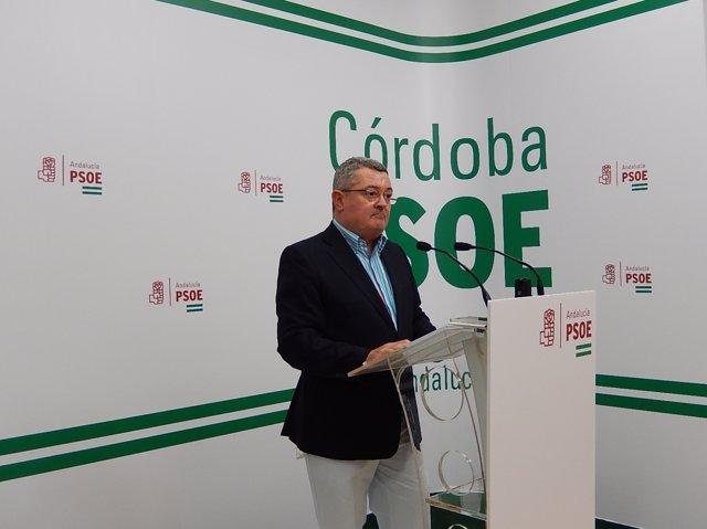 Jesús María Ruiz en la sede del PSOE de Córdoba