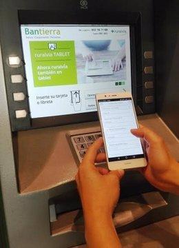 Uso del sistema DiMi de Bantierra para sacar dinero en efectivo sin tarjeta