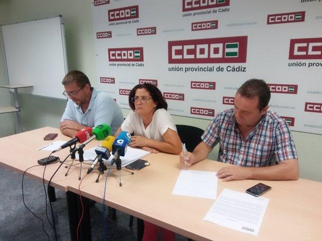 Rueda de prensa de CCOO con respecto a la situación de Alestis