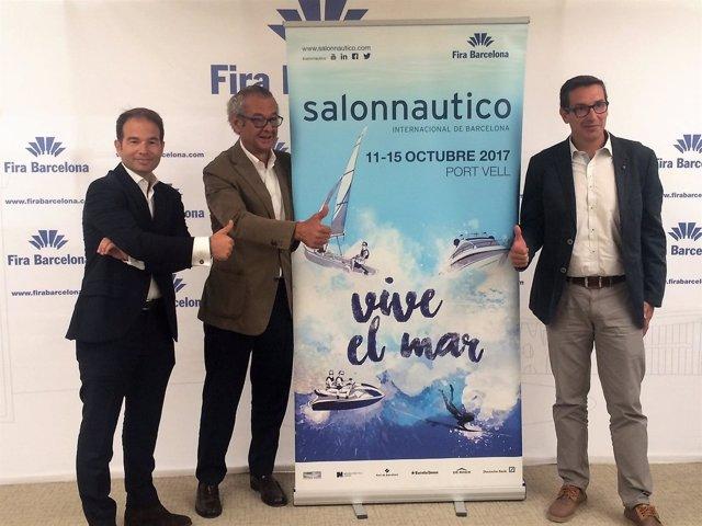 C.Sanlorenzo, L.Conde y J.Freixas presentan el 56 Salón Náutico