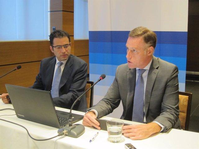 Miguel Cardoso y Carlos Rodríguez, en la rueda de prensa