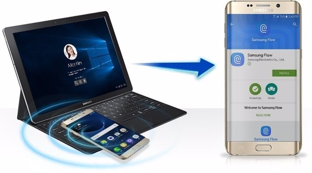 Samsung Flow Windows 10 Hello PC smartphone samsung galaxy