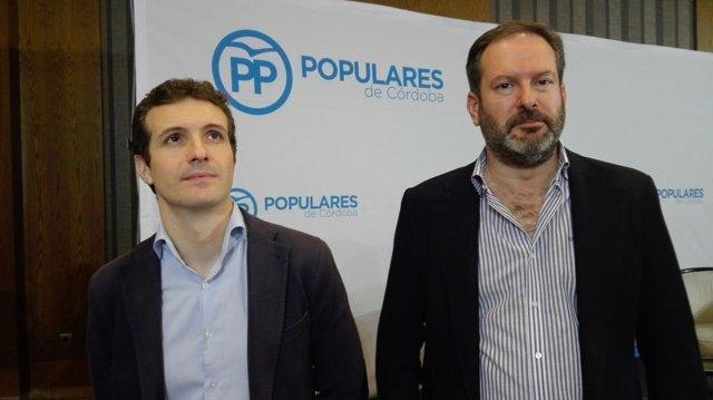 Pablo Casado y Adolfo Molina