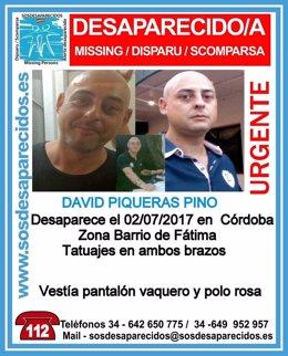 Hombre desaparecido en Córdoba