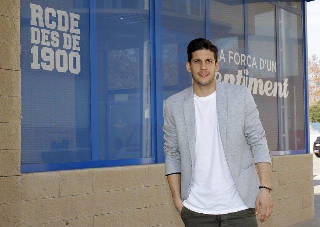 Javi López, jugador del RCD Espanyol