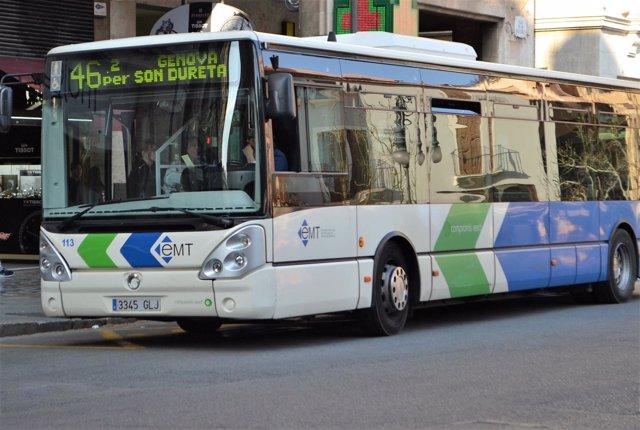 Un autobús de la EMT de Palma