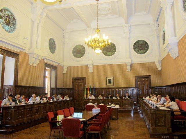 Pleno celebrado en la Diputación
