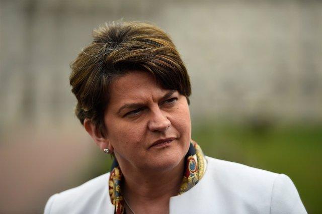 Arlene Foster, líder del DUP