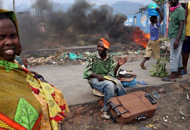 Disturbios en Burundi.