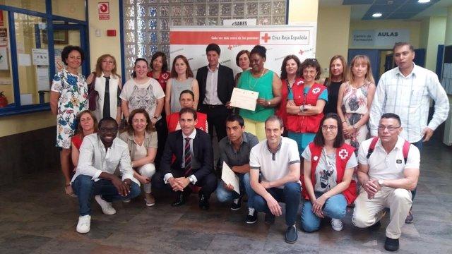Participantes en el proyecto de recualificación para parados