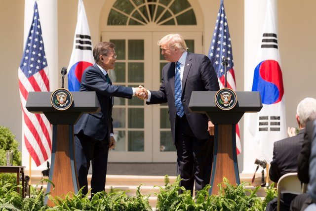 Donald Trump y Moon Jae In