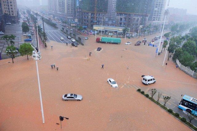 Inundaciones en el sur de China