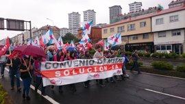 Nueva jornada de huelga del metal este miércoles en A Coruña con otros tres días en el horizonte