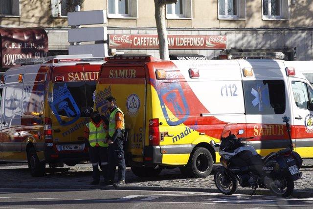 Recursos del Samur en Madrid