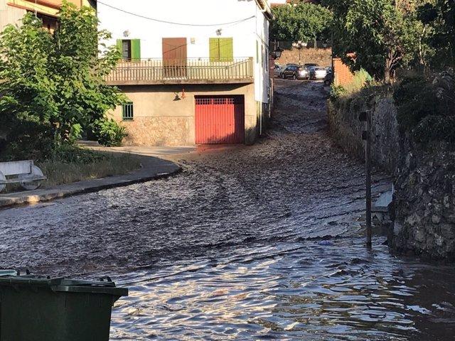Activado el Inuncaex por una inundación en Valverde de la Vera